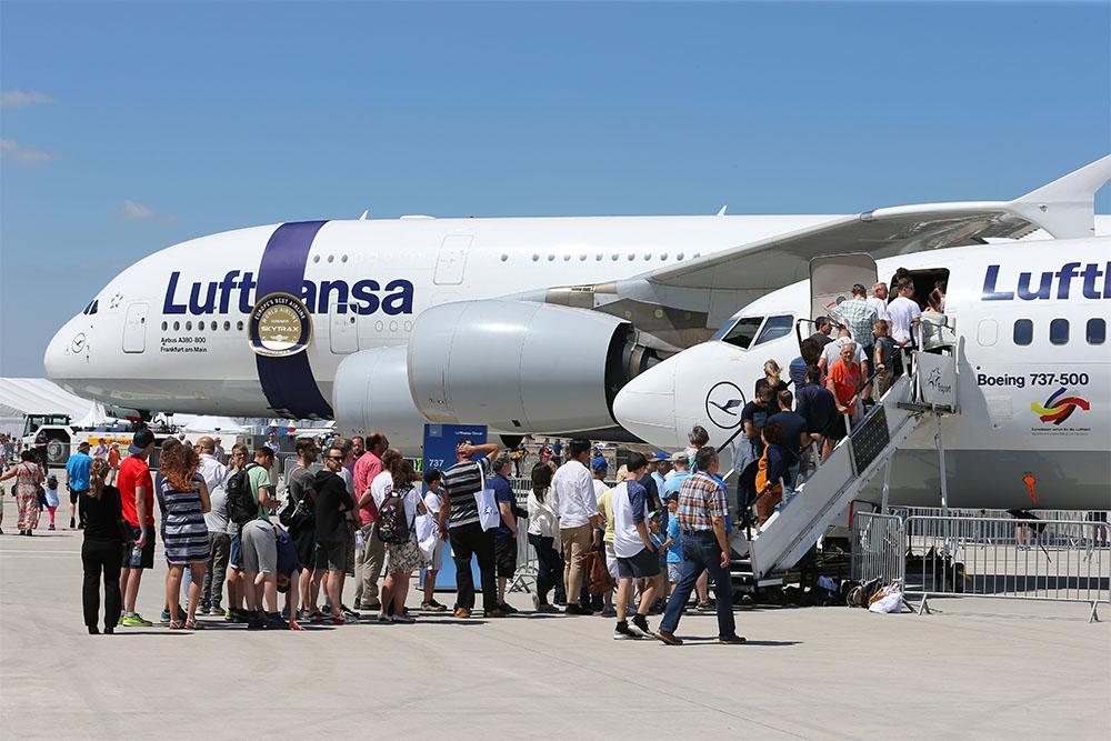 Lufthansa Jet ganz nah Ein A380 der Lufthansa - ganz aus der Nähe